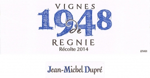 Régnié Vignes de 1948