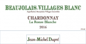 Beaujolais-Villages Blanc La Ronze Blanche