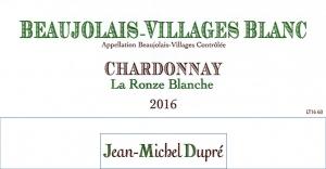 Beaujolais-Villages Blanc La Ronze Blanche
