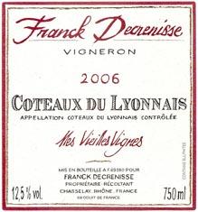 Coteaux du Lyonnais Mes Vieilles Vignes