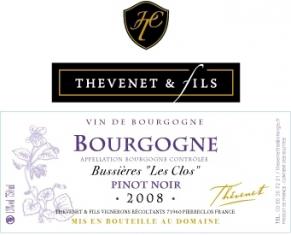 """Red Burgundy Bussières """"Les Clos"""""""